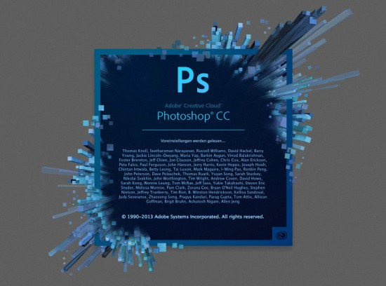 Splash-Screen von Photoshop CC