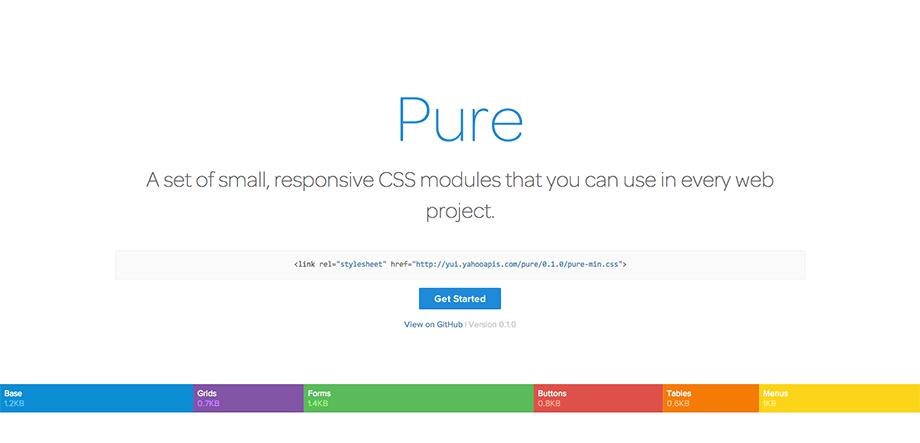 Responsive CSS Framework Pure – Buttons, Tabellen, Navigationsmenüs, Formulare, Raster etc