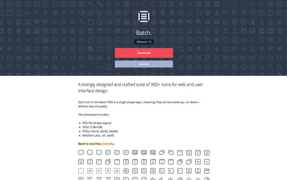 Icons für Webdesigner – PNG, SVG, Webfont, Photoshop