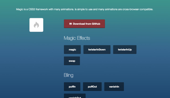 CSS3-Animationen mit Magic