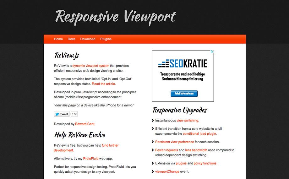 Manueller Wechsel zwischen Responsive Design und Desktop-Ansicht
