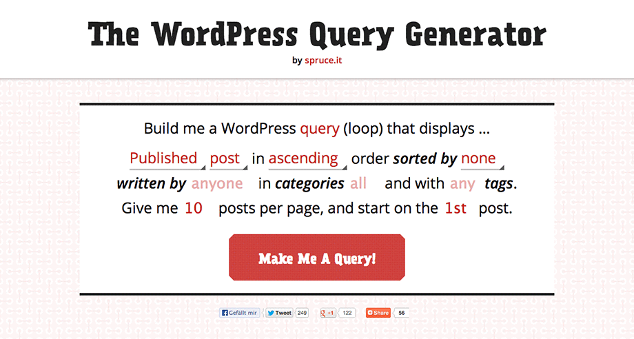 WordPress Loop Generator