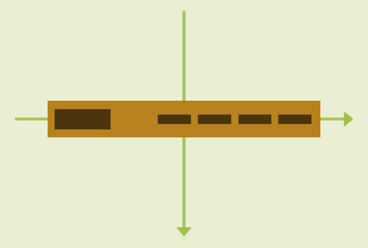 Stilisierte Navigation mit Flexbox Koordinaten