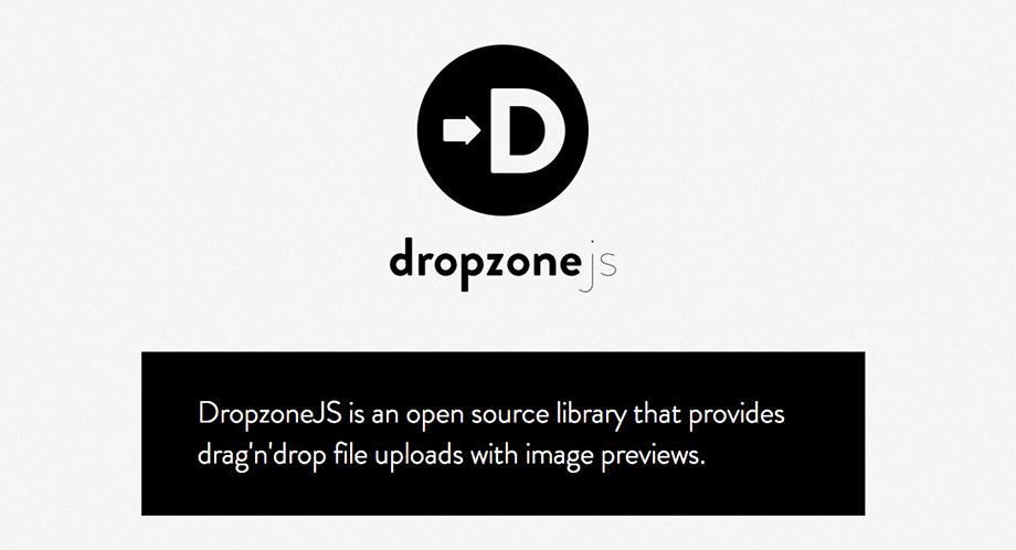 Drag & Drop Dateiuploads mit Dropzone.js