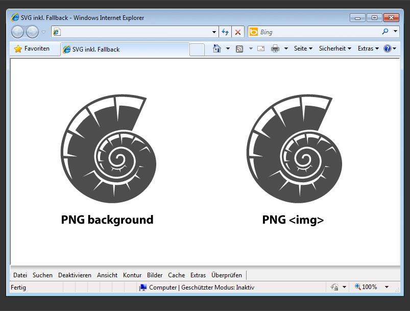 SVG-Fallback im Internet Explorer 8 (IE8)