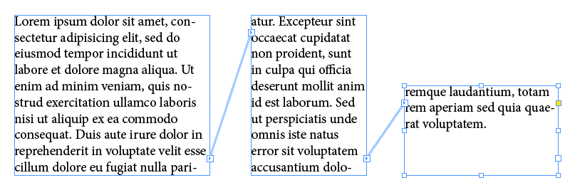 Textverkettungen in InDesign