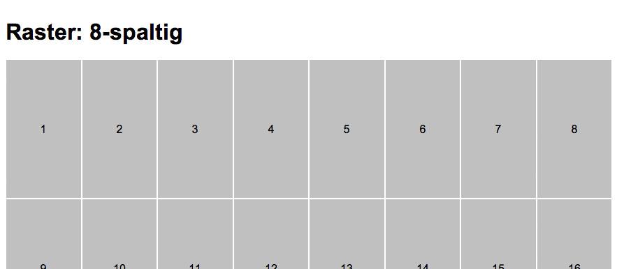 Responsives Gestaltungsraster mit CSS berechnen