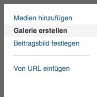 Wordpress Bildergalerie