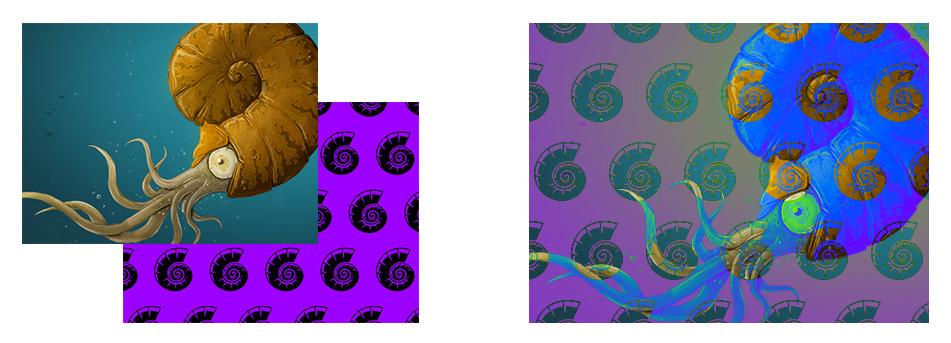 Zwei Grafiken im Modus Differenz