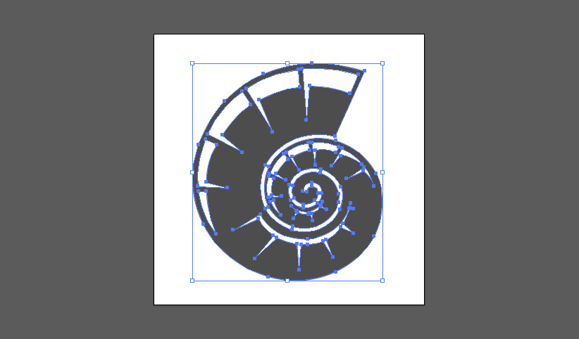 In Illustrator gezeichnete Vektor-Grafik mit übergroßer Zeichenfläche