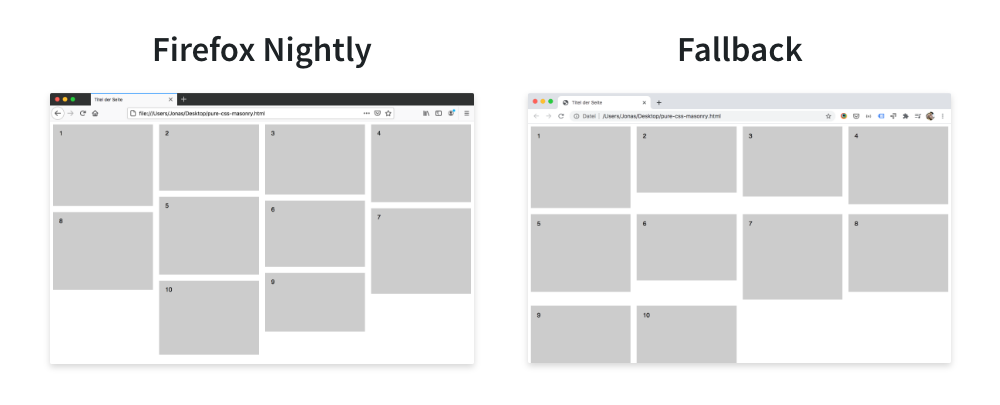 Natives CSS Masonry vs. Fallback