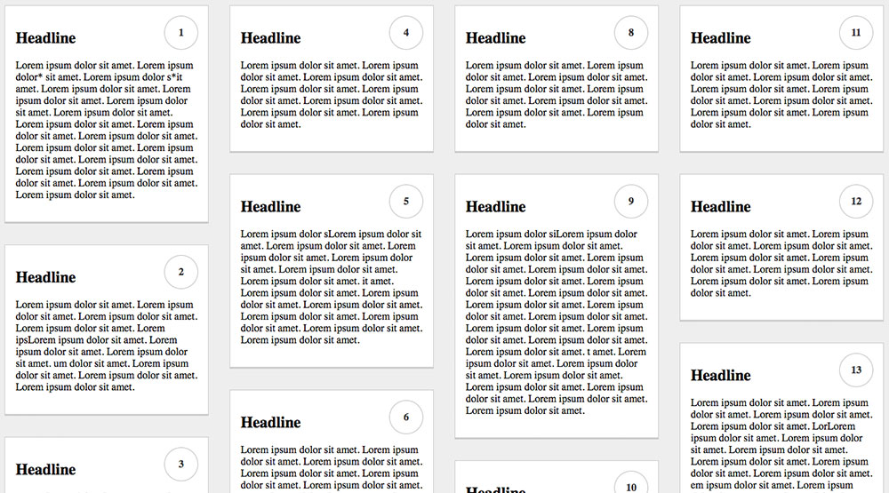 Responsive »Pinterest-Style« Grid mit CSS Mutiple Columns