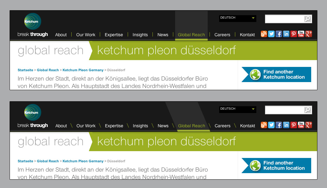 Progressive Enhancement bei ketchum.de