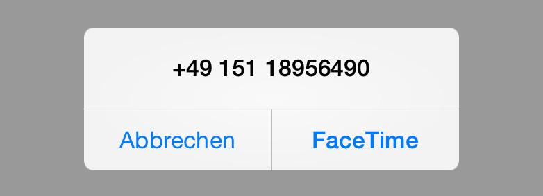 FaceTime-Anruf-Dialog unter iOS 7