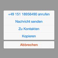 Klickbare Telefonnummern