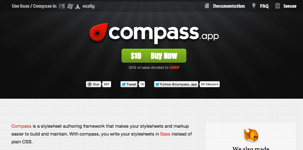 Die Website von Compass.app