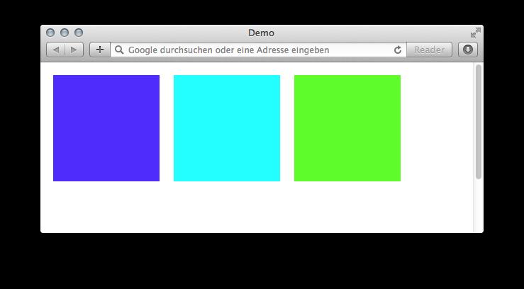 Beispiel mit veränderten Farbwerten