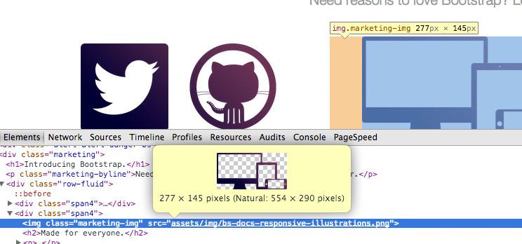 Downsampling auf der Website von Bootstrap 2.3