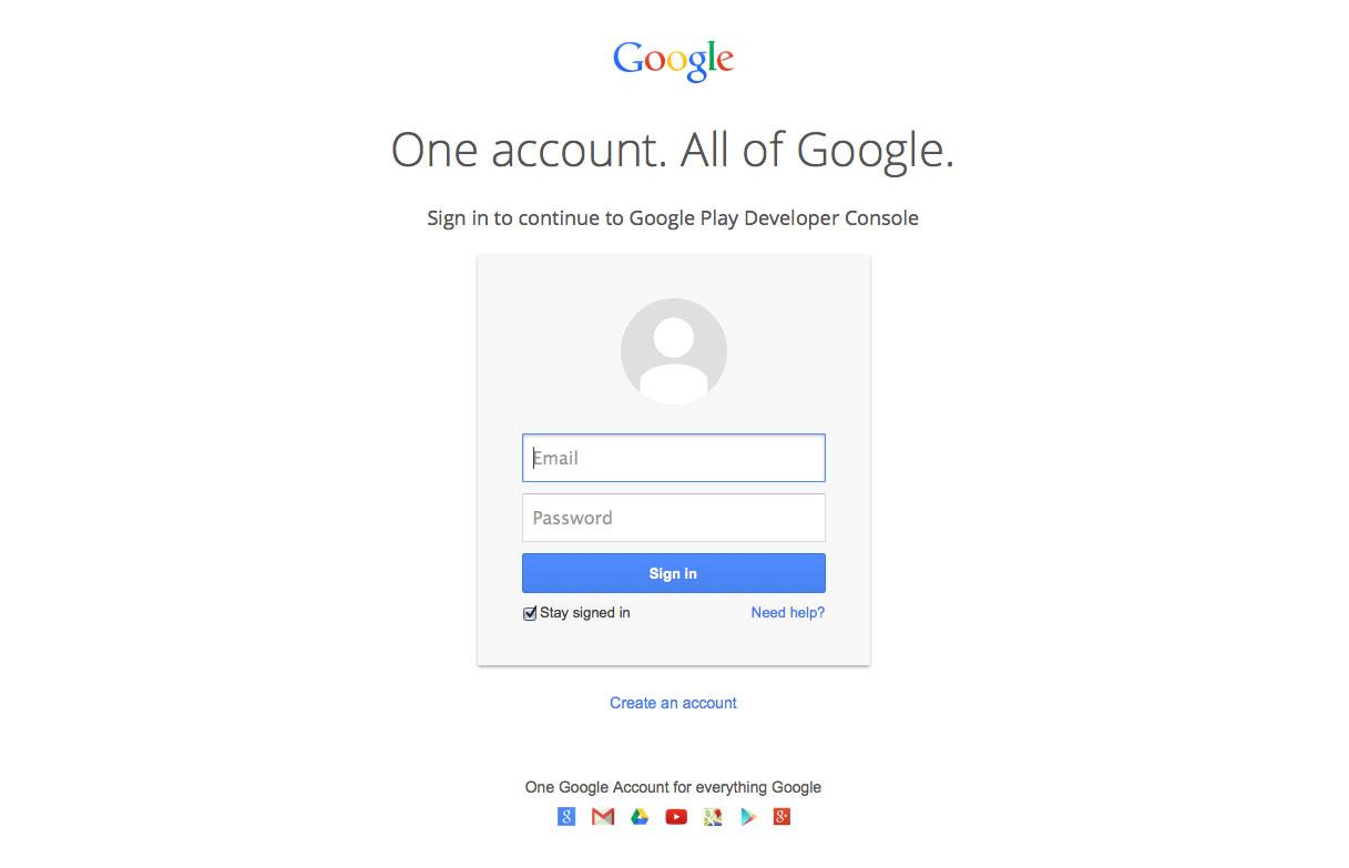 Login bei Google