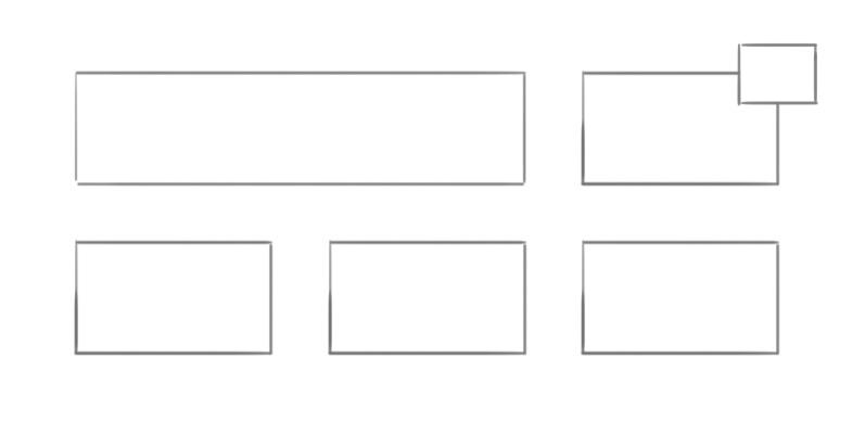 Das ausbrechende Element oben rechts gewinnt stark an visueller Bedeutung