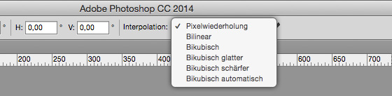Bildinterpolation in Photoshop