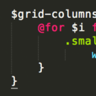 Sass @for-Loop