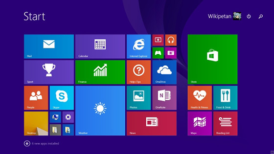 Screenshot des Desktops von Windows 8
