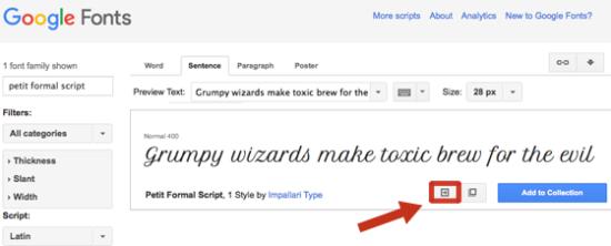 Google Webfonts lassen sich leicht auf der Website intergrieren