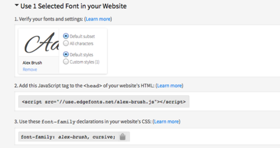 Adobe Edge Web Fonts benutzt JavaScript