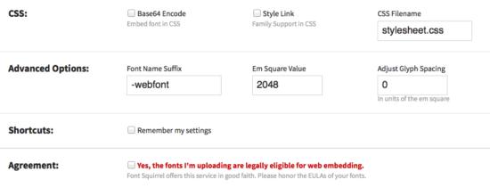 Lizenz wichtig beim Erstellen von Webfonts