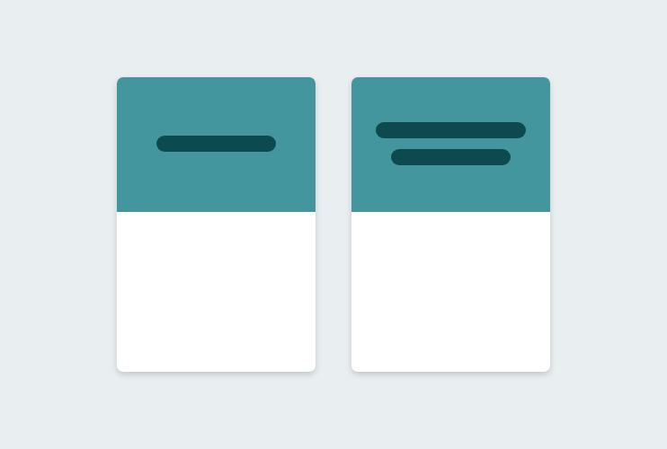 Stilisierte Card-Komponenten mit zentrierten Inhalten