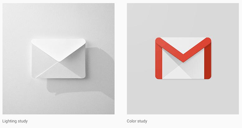 Papier-Prototyp und fertig gestaltetes Icon im Material Design