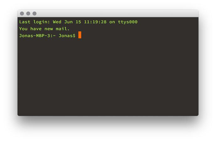 Die Kommandozeilenanwendung »Terminal« am Mac