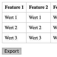 HTML-Tabelle mit JavaScript (jQuery) als CSV exportieren