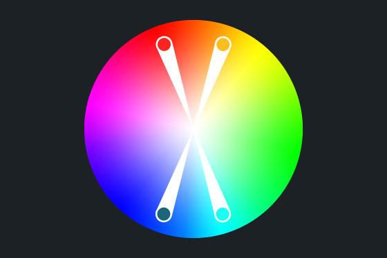 tetradisches-farbschema