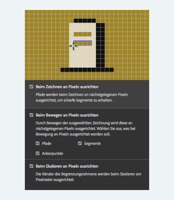 an pixeln ausrichten menu-80