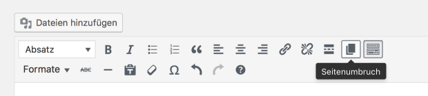 WordPress-Seitenumbruch-Button