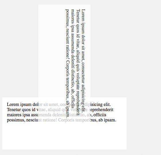 Text mit CSS »transform: rotate(90deg)« im Uhrzeigersinn gedreht.