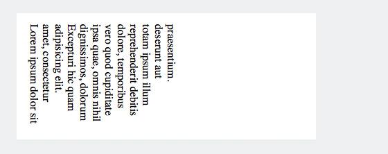 Text vertikal mit CSS und »writing-mode: vertical-lr« ausgerichtet.