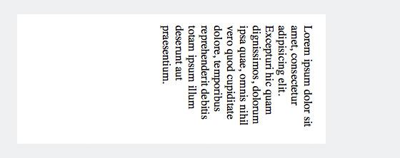 Text vertikal mit CSS und »writing-mode: vertical-rl« ausgerichtet.