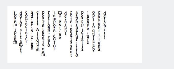Vertikal ausgerichteter Text ergänzt mit der CSS Eigenschaft »text-orientation: upright«