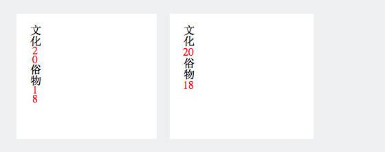 CSS text-orientation-upright: all (rechts) für die Darstellung von Zahlen in Japanischer Schrift