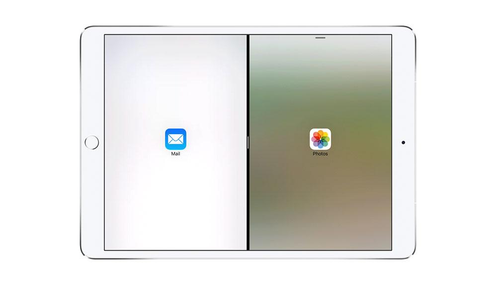 Handlebar in der Split-Screen-Ansicht von iOS