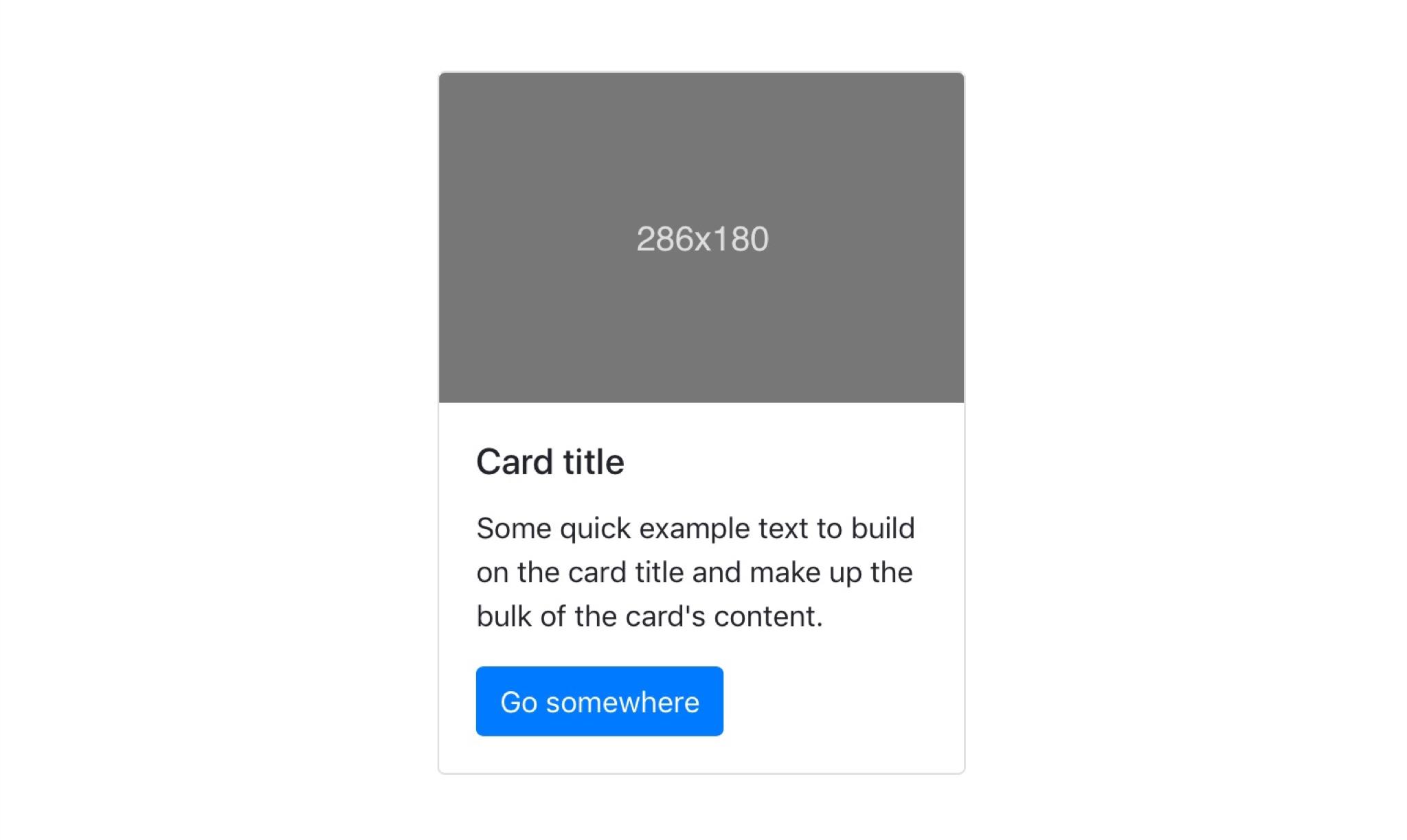 Typisches Card-Element am Beispiel von Bootstrap