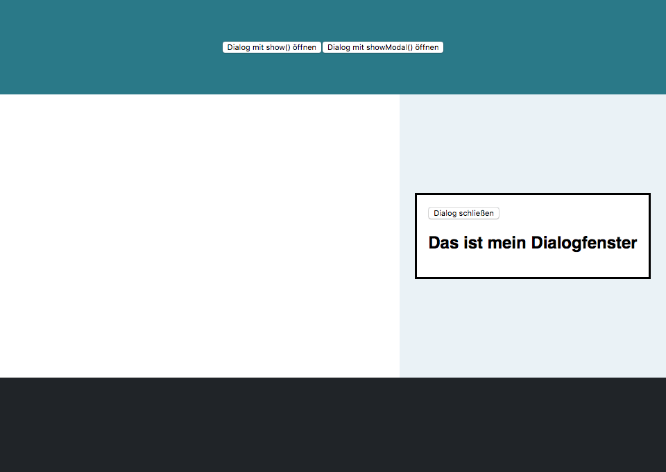HTML5 Dialog Element