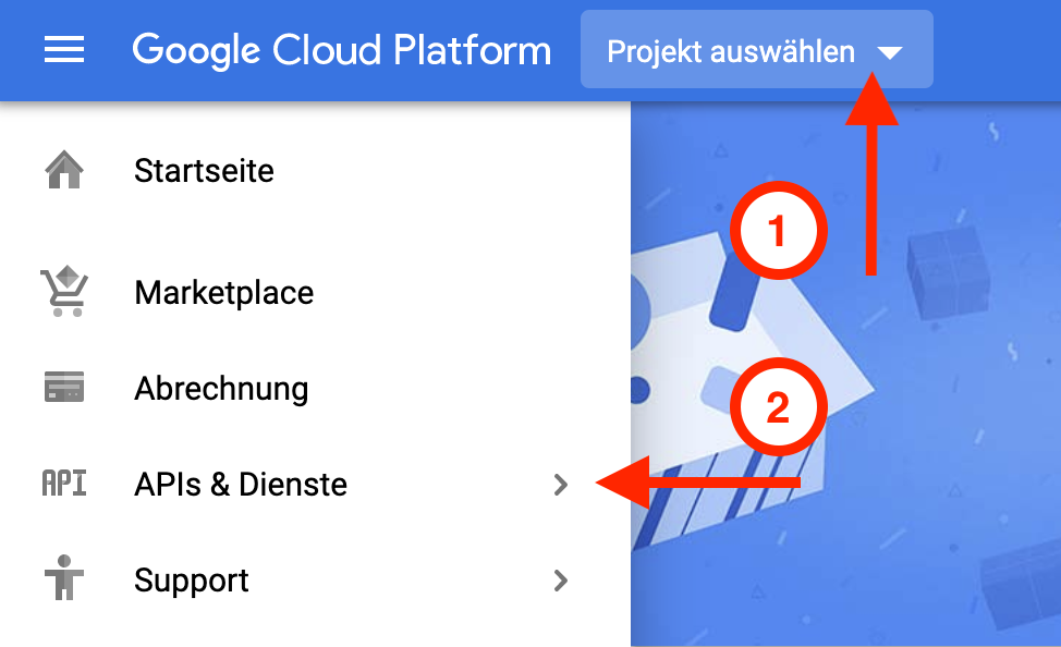 Screenshot Google Cloud Platform