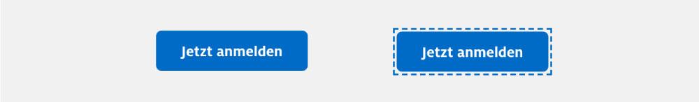 Zwei Buttons. Einer mit gestyltem Focus Visible Zustand
